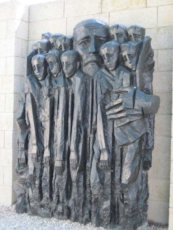 One of the most impactful monuments at the Holocaust Museum in Jerusalem - weeping souls.  This was one of the most meaningful places that we visited.